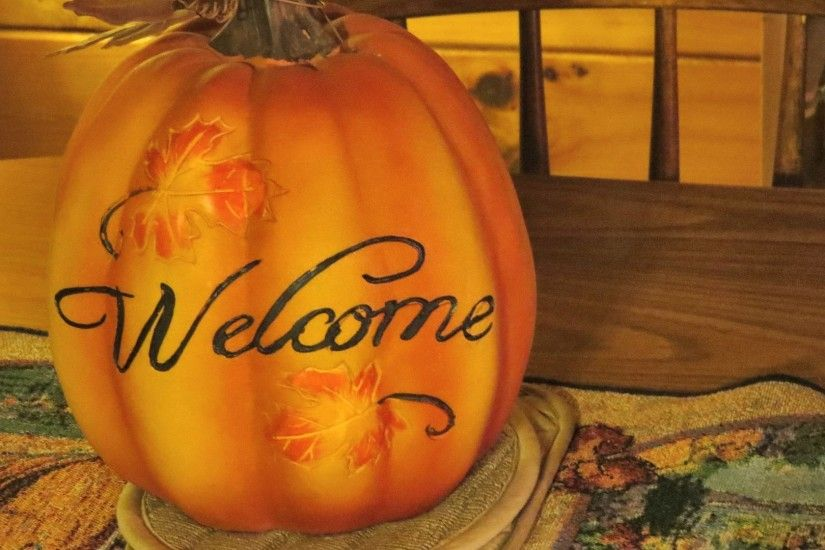 Thanksgiving Tag - Pumpkin Welcome Autumn Halloween Fall Nature Decorative  October September November Thanksgiving Craft Hocking