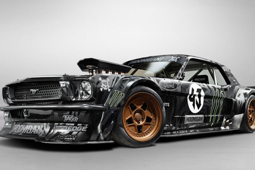 Download Wallpaper smoke the fence ford drift mustang, 2560x1600 .