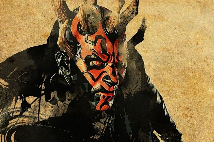1920x1080 Wallpaper star wars, darth maul, art