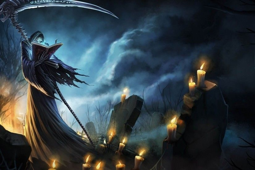 Grim Reaper in the cemetery Fantasy HD desktop wallpaper, Cemetery wallpaper,  Grim Reaper wallpaper, Death wallpaper, Candle wallpaper - Fantasy no.