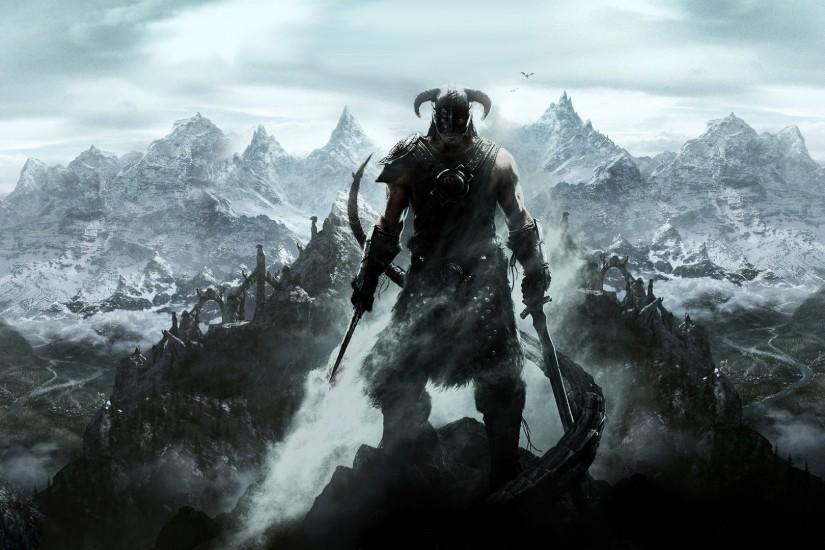 full size skyrim wallpapers 3840x1080