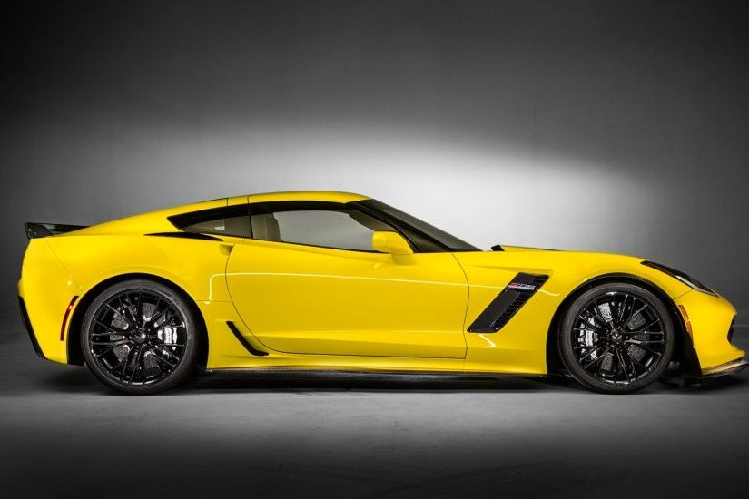 2015 Chevrolet Corvette Z06, Chevrolet Corvette Z06, Car, Yellow Cars, Side  View Wallpapers HD / Desktop and Mobile Backgrounds