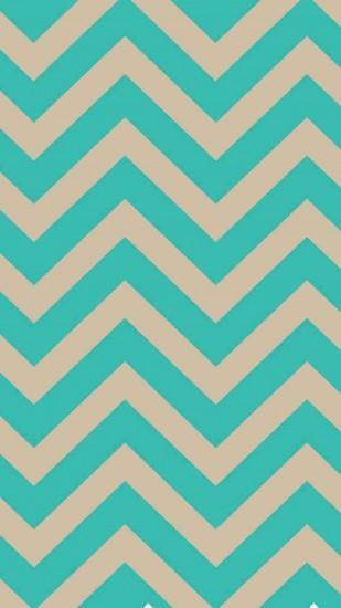 Turquoise Blue and Ivory Chevron iPhone 6 Plus Wallpaper - Classic Colors,  Zigzag Pattern