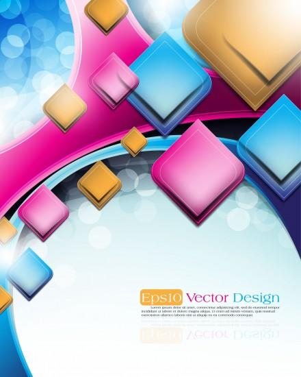 Abstract vector background object 03 vector free vector