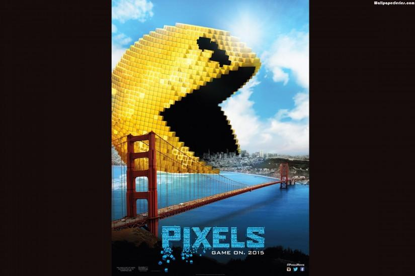 2250x1500, Pixels, Pacman, Pixels Movie, Movies, Wallpaper
