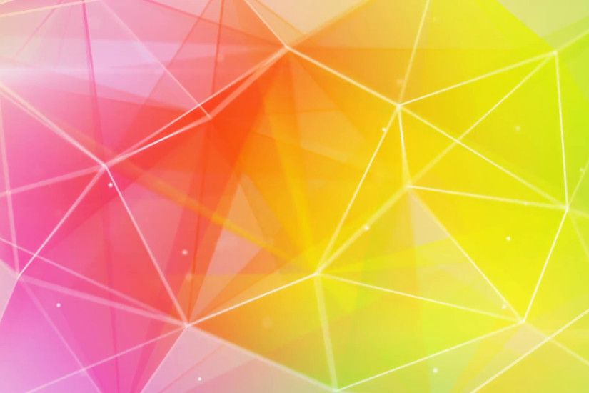 abstract triangle geometrical colorful background loop