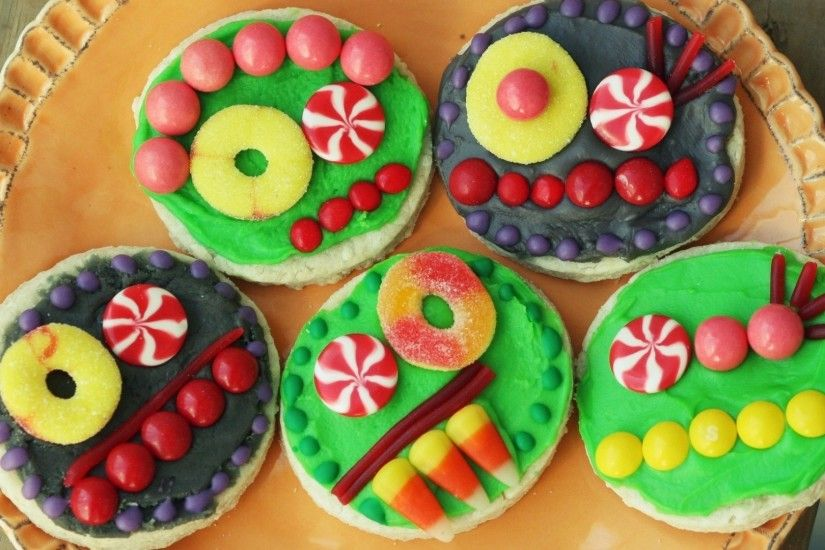 Preview wallpaper food, candy, colorful, funny, smiley face, cookies  1920x1080