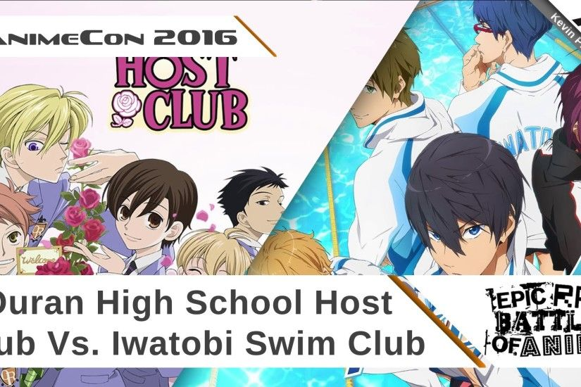Fanime 2016: Epic Rap Battles Of Anime (Ouran High School Host Club Vs.  Iwatobi Swim Club) - YouTube