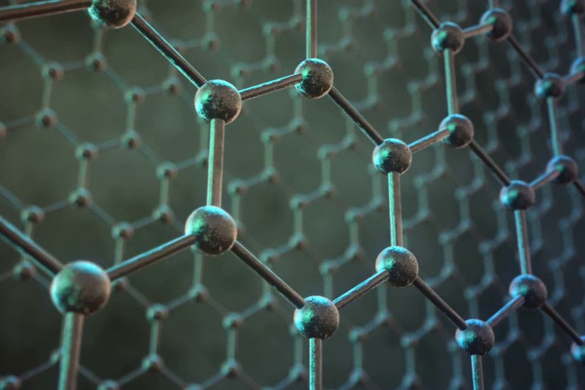 Loopable graphene structure. Two rows of carbon atoms. Nanotechnology Stock  Video Footage - VideoBlocks