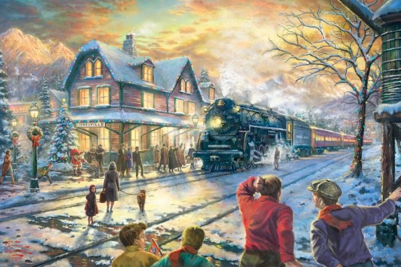 Thomas, Kinkade, Winter, Wallpaper, Background, M, Hd Wallpapers, Cool  Images, Background, 1920×1200 Wallpaper HD