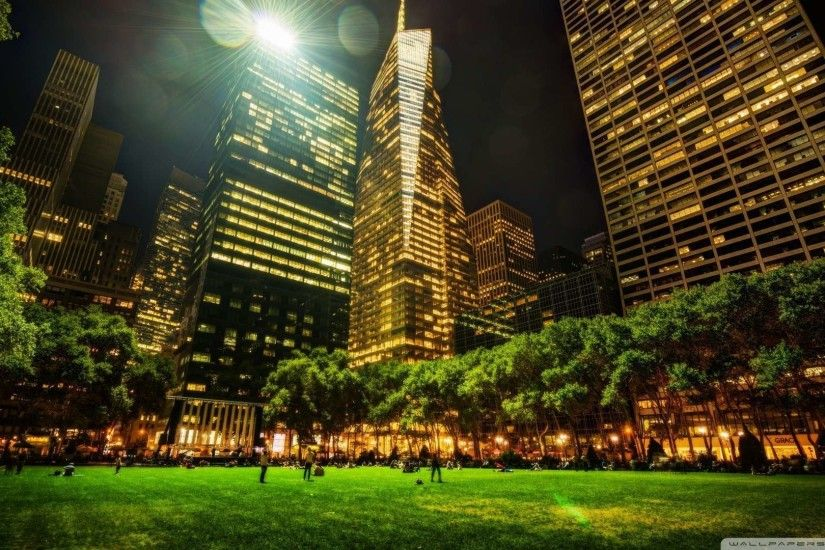 1920x1080 Bryant Park In New York City Wallpaper 1080p HD | HDWallWide