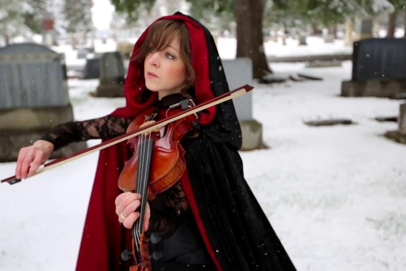 Lindsey stirling violinist winter cemetery grave women brunettes violin  wallpaper | 1920x1080 | 37276 | WallpaperUP
