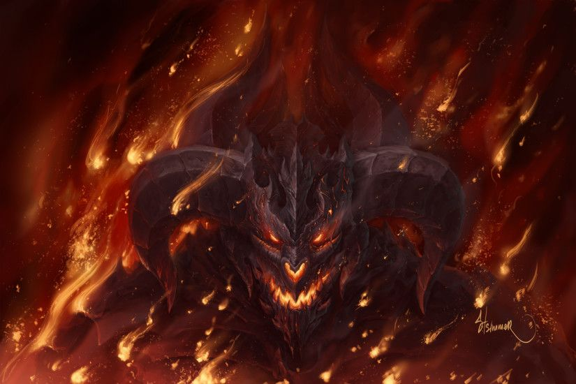 Fire Demon Wallpaper 1080p For Desktop Wallpaper 3000 x 2000 px 1.76 MB  shadow demoness hell