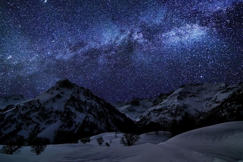 widescreen starry night background 2560x1600 for pc