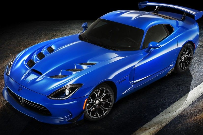 Preview wallpaper dodge, viper, ta, 2015, blue, side view 1920x1080