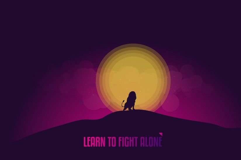Learn to fight alone motivation wallpapers