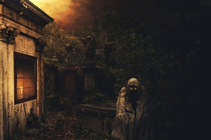 Preview wallpaper night, crypt, death, cemetery, darkness 2048x2048