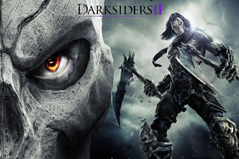 Darksiders 2 Weapons · Dark Grim Reaper horror skeletons skull creepy wings  angel wallpaper