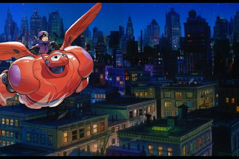 ... Sora meets Big Hero 6 - Hiro and Baymax's flight by Iscreamer1