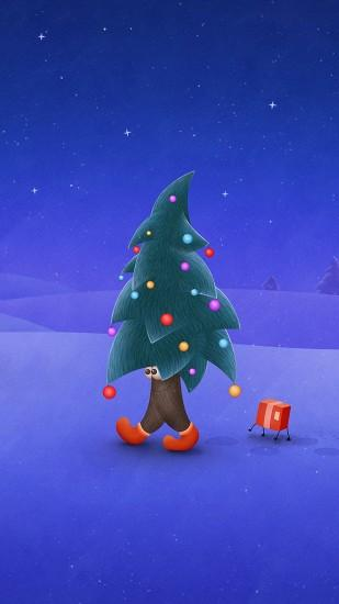 HD 1440x2560 walking christmas tree samsung galaxy s6 wallpapers