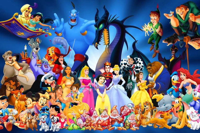 ... Walt Disney Cartoon Characters Wallpaper 17 Free Disney Cartoon  Characters Computer Desktop Wallpapers Pictures .