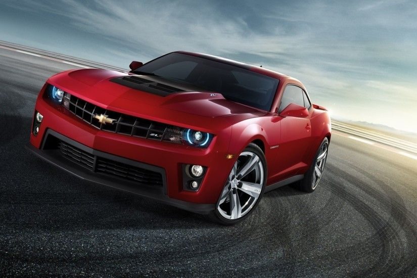 1920x1080 Wallpaper chevrolet, camaro, red, front view, drift