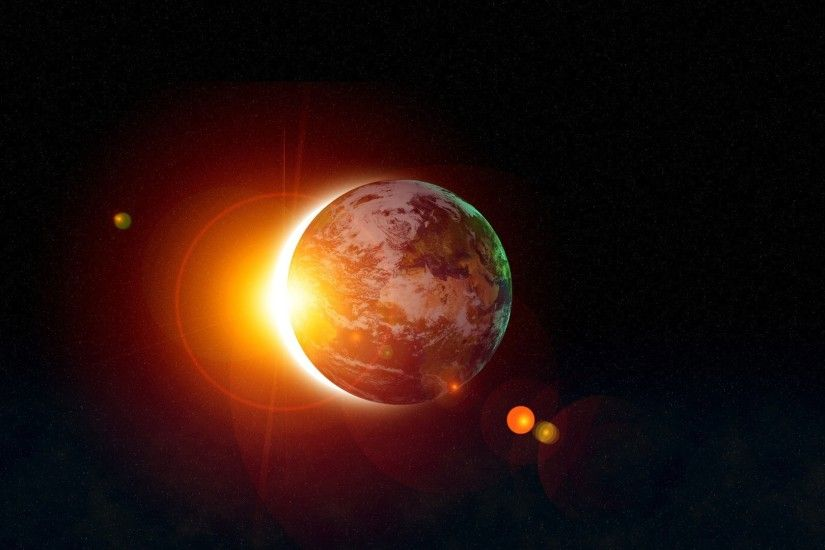 Solar eclipse hd wallpapers.