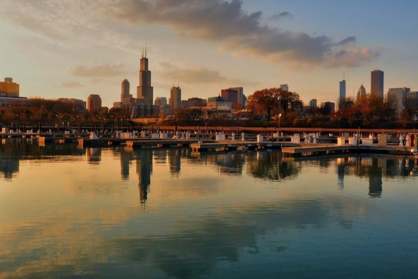 Chicago Skyline HD desktop wallpaper : High Definition 1920×1080 Chicago Skyline  Wallpapers (48
