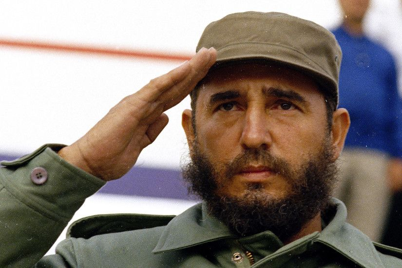 Havana, Cuba: Cuban Prime Minister Fidel Castro is shown saluting in 1971  wearing his