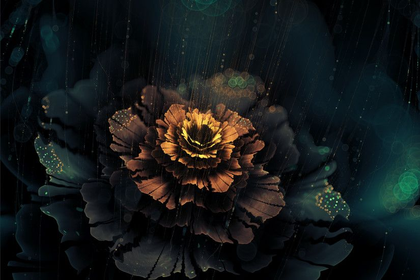 flowers, Digital Art, Fractal Flowers, Fractal, Artwork, Dark, Abstract  Wallpaper HD
