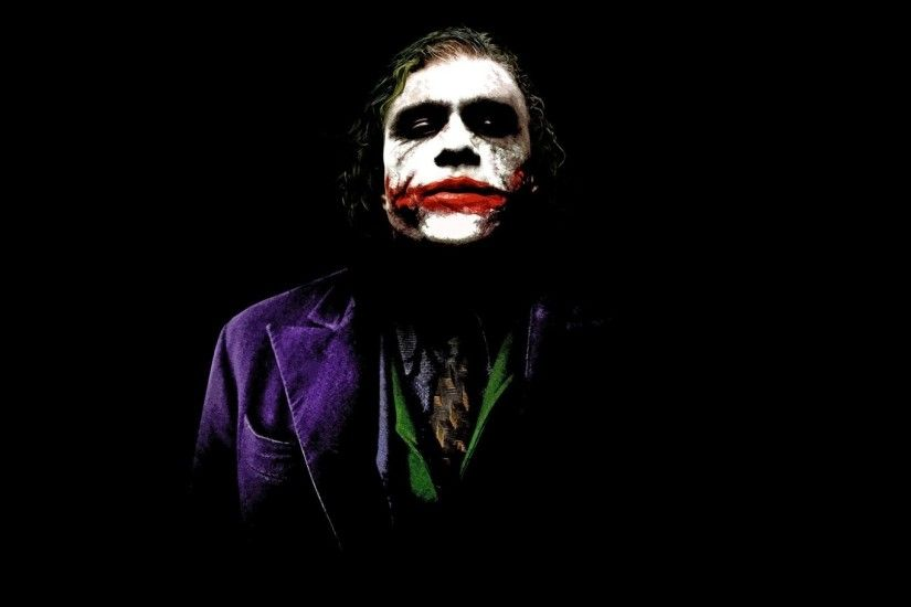DC Comics, Joker, Simple Background, Black Background, Heath Ledger, The  Dark Knight, Batman, Black Wallpapers HD / Desktop and Mobile Backgrounds