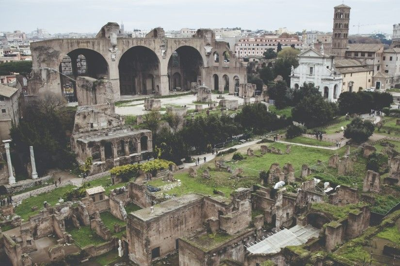 3840x2160 Wallpaper ancient city, colosseum, rome, ruins