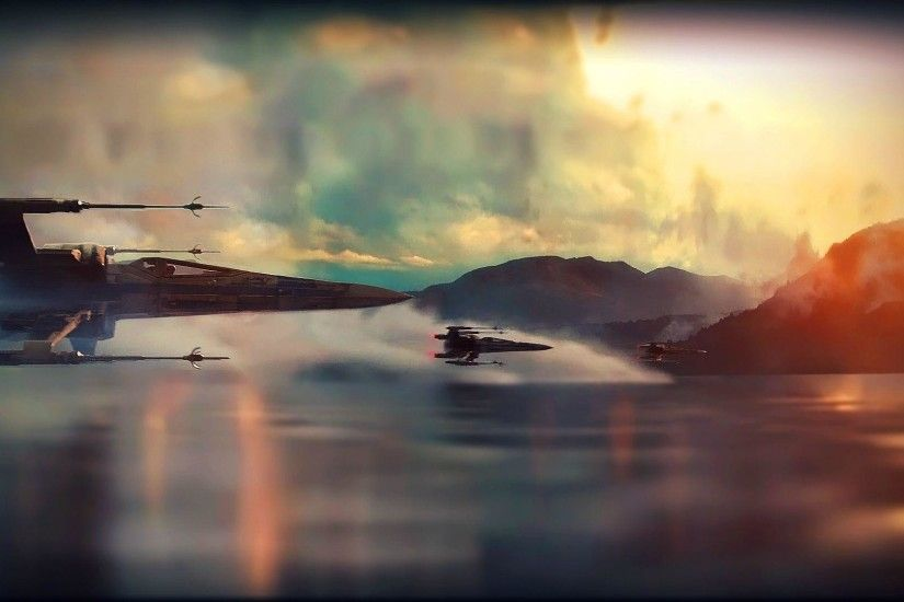 Star Wars Ep VII: The Force Awakens Teaser X-Wing Super Saturated .