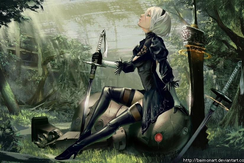 free nier automata wallpaper 1920x1241 cell phone