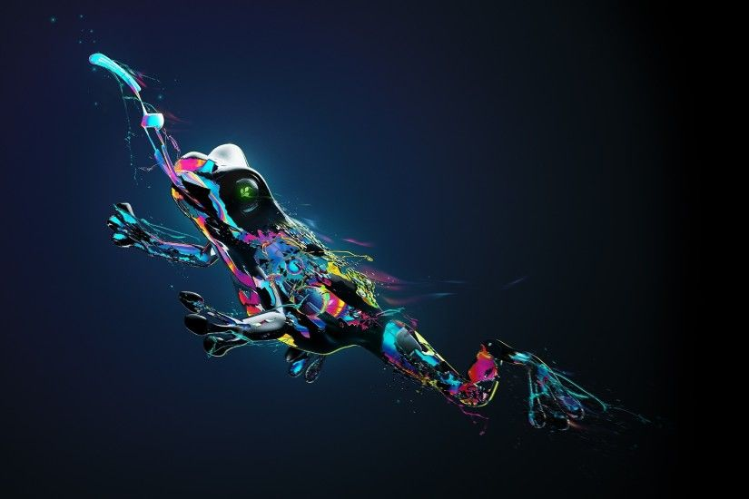 frog, Animals, Digital Art, Tongues, Paint Splatter Wallpapers HD / Desktop  and Mobile Backgrounds