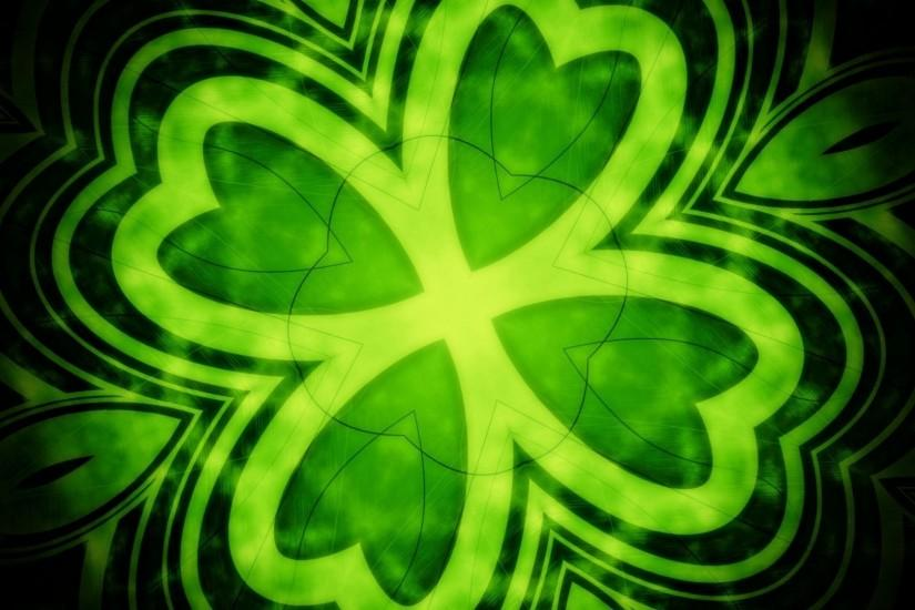 Green Shamrock Background - Viewing Gallery