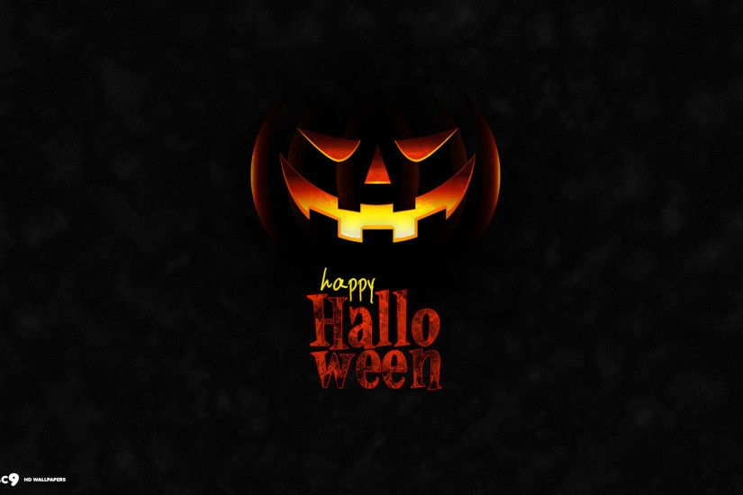 ... happy halloween evil pumpkin jack o lantern dark holiday hd wallpaper