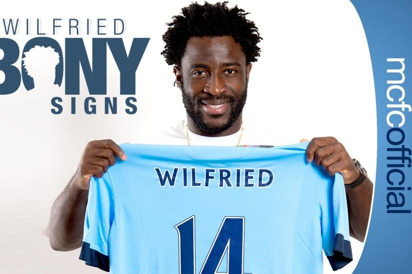 BONY SIGNS | Wilfried Bony's First Interview as a Man City Player - YouTube
