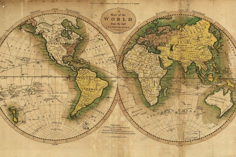 Ancient World Map Wallpaper Wall Mural | Wallsauce ...