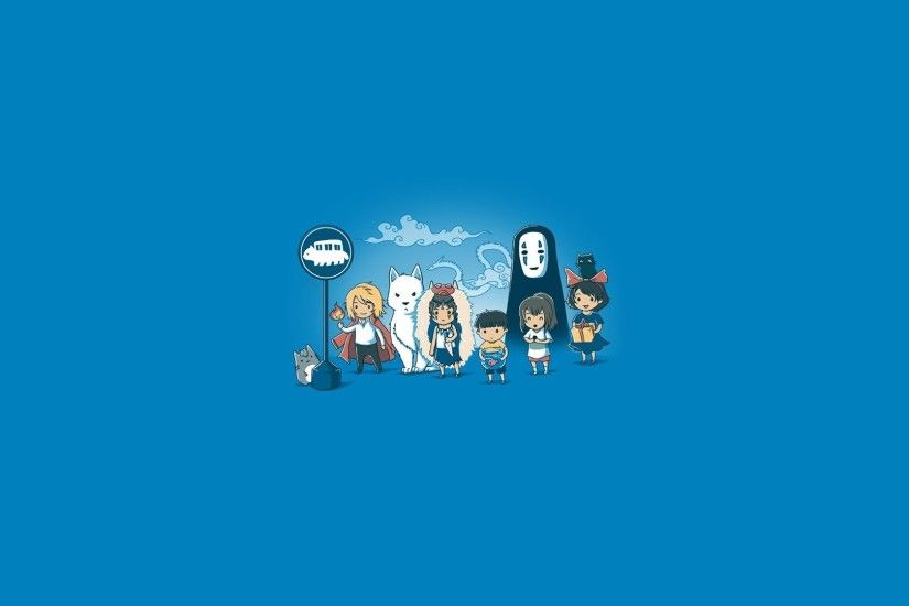 Studio Ghibli My Neighbor Totoro Howl's Moving Castle In The Sky Princess  Mononoke Simple Background Minimalism