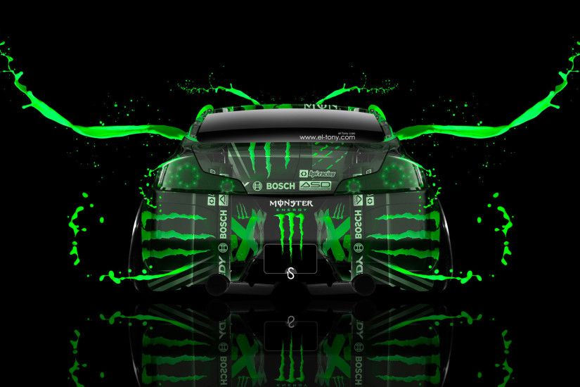 Monster Energy Infiniti G37 Back Live Colors Car 2014