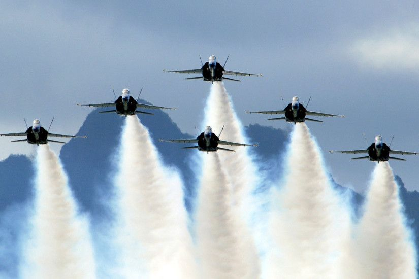 US Navy Blue Angels on Delta Formation