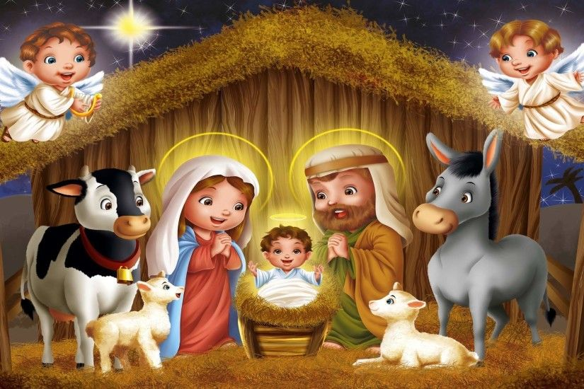 Free Christmas Nativity Scene, computer desktop wallpapers, pictures .