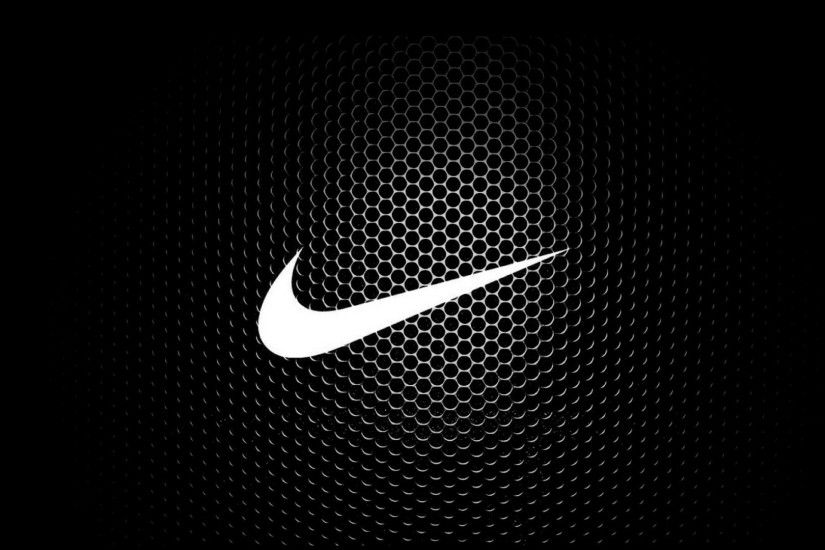 ... Free Download of White Nike Logo Wallpaper with Hexagonal Background