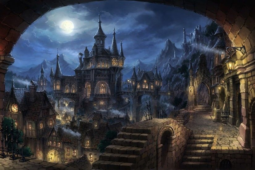 cityscape, Dark Fantasy, Fantasy Art Wallpapers HD / Desktop and Mobile  Backgrounds