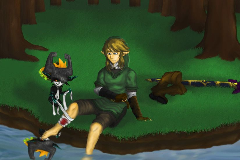 Twilight princess Link is Hurt PSD version by Dragonauroralight