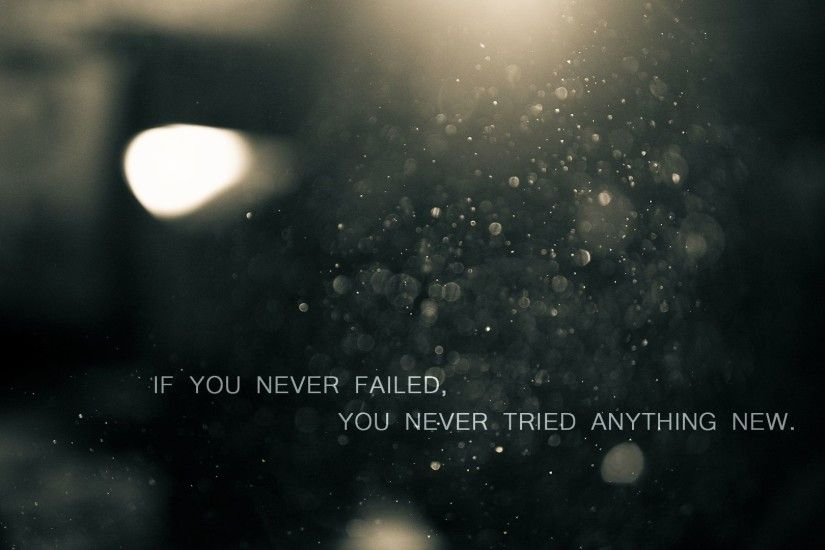 Motivational Fail Quote HD Wallpaper. « »