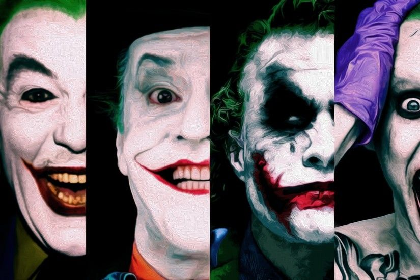 General 1920x1080 Joker Jared Leto Jack Nicholson Heath Ledger DC Comics  villain Batman logo New 52