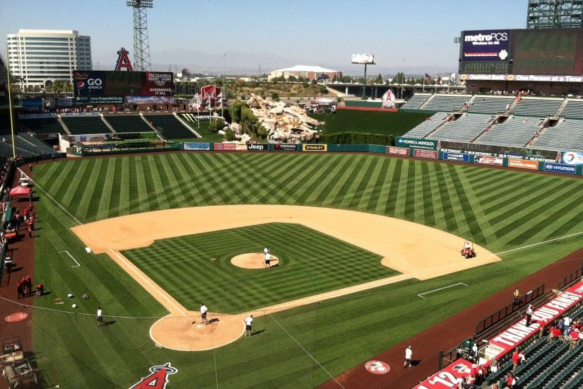 Angels Baseball Stadium Wallpaper The field of angel stadium by