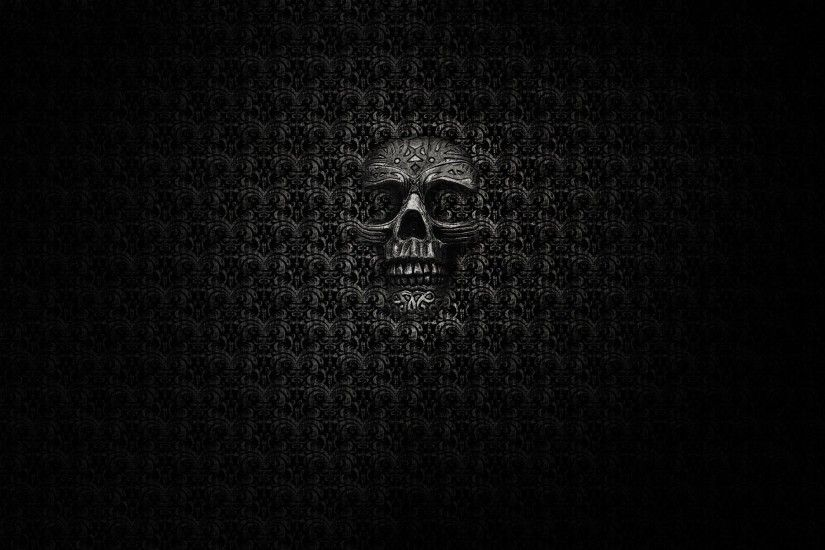 Dark - Skull Occult Wallpaper